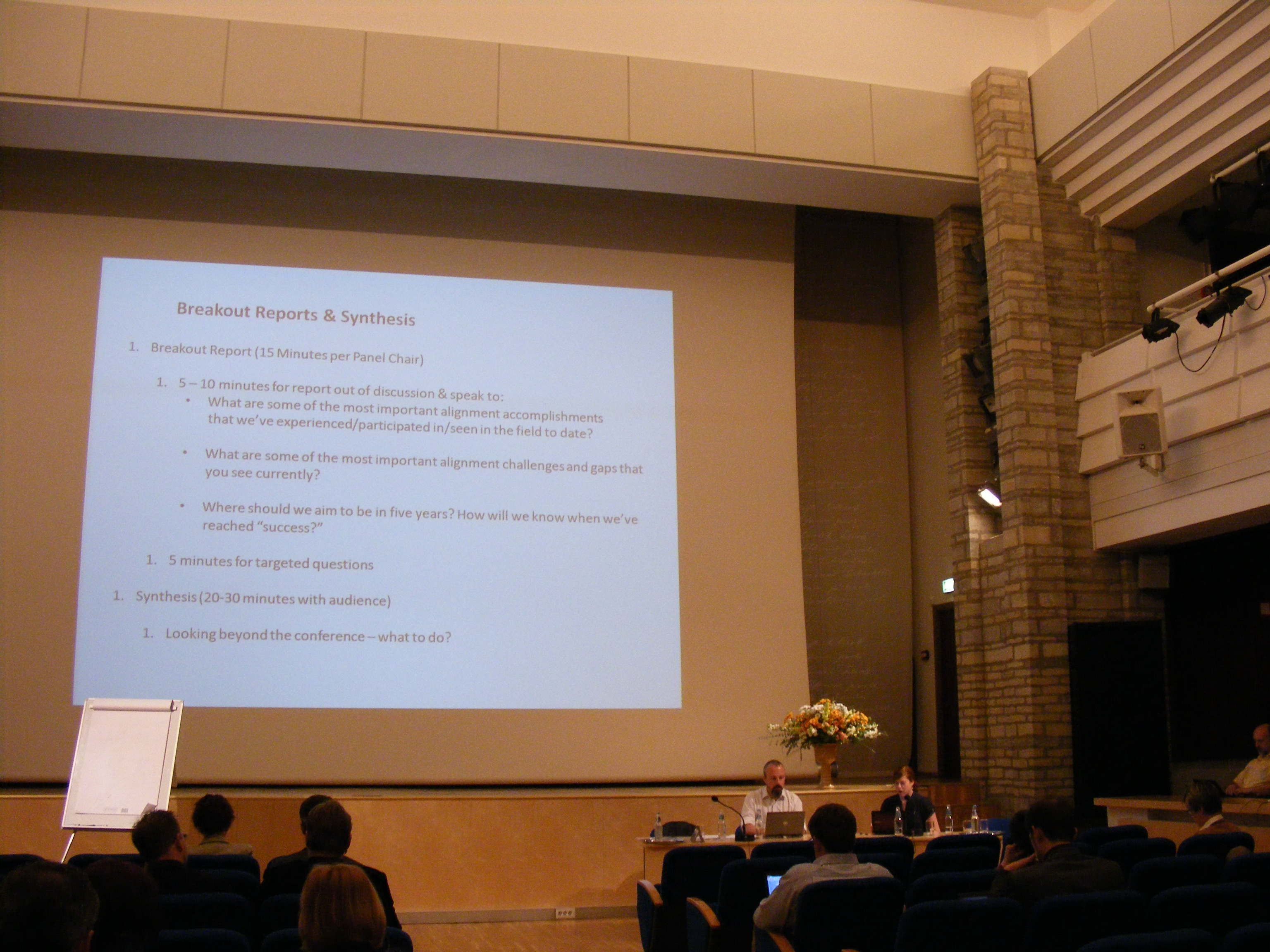 Breakout session at ANADP 2011