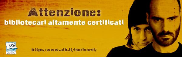 Campagna associazioni AIB: bibliotecari certificati