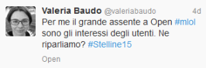 Valeria Baudo tweet