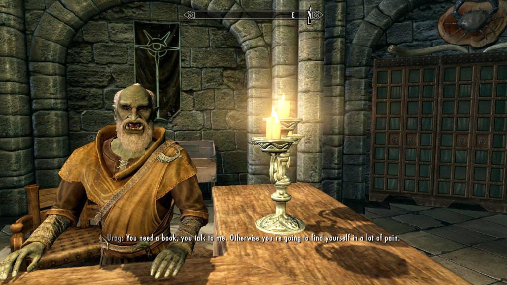 L'amichevole bibliotecario della Gilda dei Maghi di Skyrim