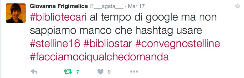 @___agata___ #bibliotecari al tempo di google ma non sappiamo manco che hashtag usare